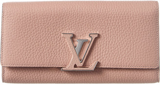 Louis Vuitton Pink Leather Capucines Wallet