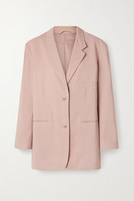 Frankie Shop Pernille Oversized Woven Blazer - Blush