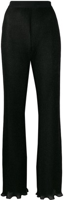 Alberta Ferretti ribbed wide-leg trousers