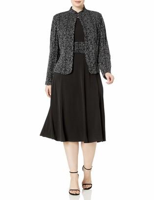 Jessica Howard JessicaHoward Women's Plus Size Two Piece Jacket Dress