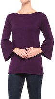Cable & Gauge Boat Neck Tunic Shirt - 3/4 Sleeve (For Women)