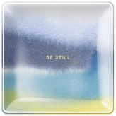 Fringe Be Still Water Study Small Square Tray