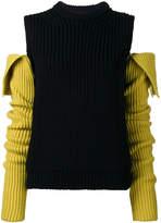 Calvin Klein Cold shoulder ribbed jumper