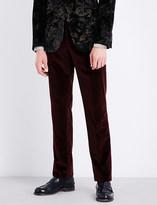 Etro Cuba slim-fit straight velvet trousers