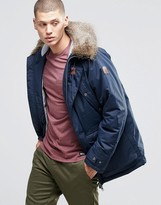 Element Sowden Heavy Parka Faux Fur Hood Navy