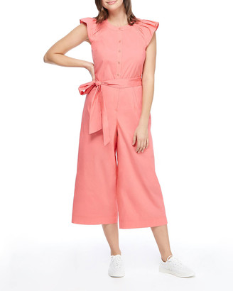 Gal Meets Glam Flutter-Sleeve Cropped Jumpsuit