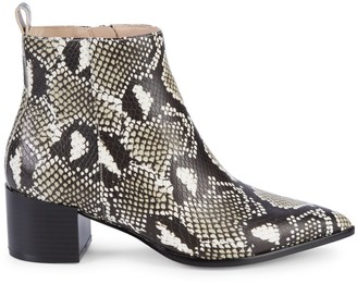 Saks Fifth Avenue Emerson Snake-Print Leather Ankle Boots
