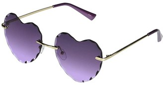 Sam Edelman Frameless Heart Shaped Beveled (Gold/Purple) Fashion Sunglasses