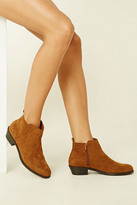 Forever 21 FOREVER 21+ Faux Suede Ankle Boots