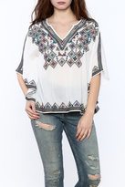 Bishop + Young White Embroidered Top