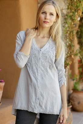 Gretty Zuegar Embroidered Cotton Tunic