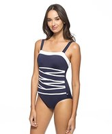 Nautica Women's Signature Removable Soft One-Piece Swimsuit