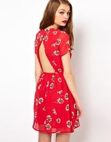 A/Wear A Wear Tea Dress With Cut Out Back