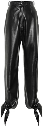 MATÉRIEL High-rise faux-leather pants