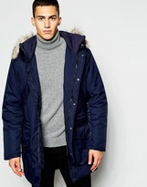 French Connection Parka - Blue