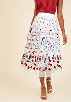 Elegance in Actuality Midi Skirt in S