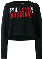Love Moschino logo embroidered sweater