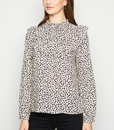 New Look Off Spot Frill Long Sleeve Shirt