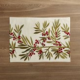 Crate & Barrel Holly Embroidered Placemat