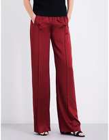 Area Broox wide high-rise silk-satin jogging bottoms