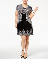 INC International Concepts Plus Size Dolman-Sleeve Sheath Dress, Only at Macy's