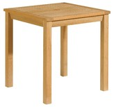 """Oxford Garden Hampton Square Dining Table 28"""" - Natural Shorea"""