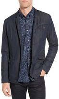 John Varvatos Men's Extra Trim Fit Four-Button Convertible Jacket