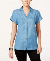 Style&Co. Style & Co Short-Sleeve Denim Shirt, Only at Macy's
