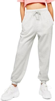 Topshop High Waist Cotton Blend Sweatpants