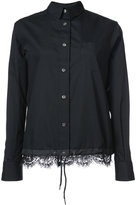 Sacai lace hem shirt - women - Cotton/Polyester - 2
