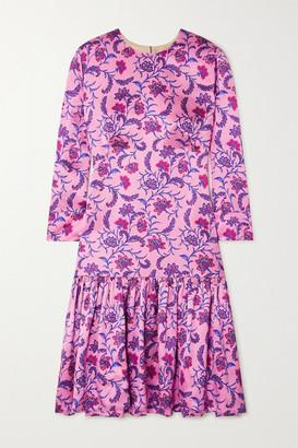 SEREN Delilah Floral-print Silk-satin Mini Dress
