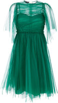 Rochas pleated maxi dres - women - Silk/Polyamide - 40