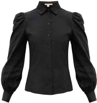 Brock Collection Puff-sleeved Taffeta Blouse - Womens - Black