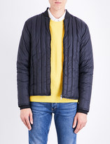 Sandro Stand-collar quilted shell jacket
