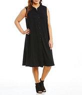 Eileen Fisher Plus Mandarin Collar Dress