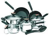 Paula Deen Signature 12-Piece Stainless Steel Cookware Set with Lids