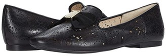 Cole Haan Tali Soft Bow Loafer (Black Leather/Tonal Grossgrain Bow/Black Stack) Women's Shoes