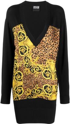 Versace oversized V-neck sweater