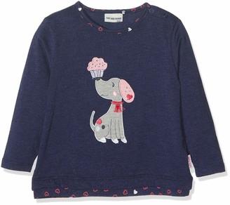 Salt&Pepper Salt and Pepper Baby Girls' B Longsleeve Mon Amie Ruschen T-Shirt