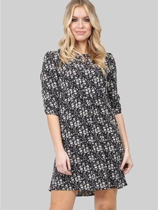 M&Co Izabel keyhole neck floral dress