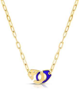 Audrey C. Jewels Extra Large Partners in Crime Necklace, Blue