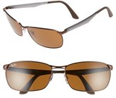 Ray-Ban Men's 62Mm Sunglasses - Matte Brown