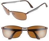 Ray-Ban Men's 62Mm Sunglasses - Matte Brown