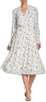Joie Waneta Floral Keyhole Long Sleeve Maxi Dress