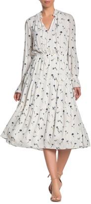 Joie Waneta Floral Keyhole Long Sleeve Maxi Dress