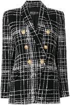 Balmain embroidered tweed blazer