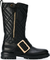 Burberry quilted buckle boots - women - Leather/rubber - 37