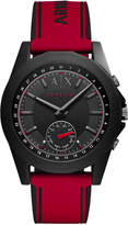 Armani Exchange Men's Connected Red Silicone Strap Hybrid Smart Watch 44mm