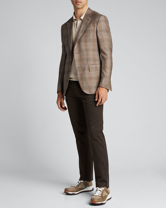 Ermenegildo Zegna Men's Cashmere Regular-Fit Plaid Two-Button Jacket