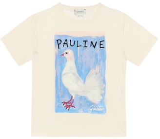 Gucci Kids Printed cotton T-shirt